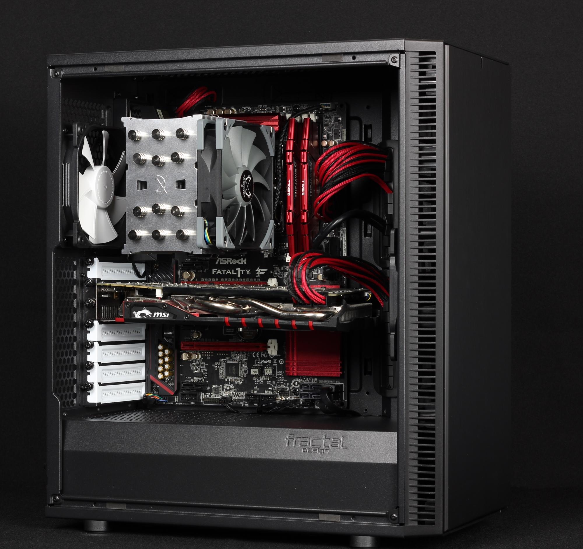 Fractal Define C mit Hardware, Asrock Z170, Intel i7, MSI Nvidia GTX