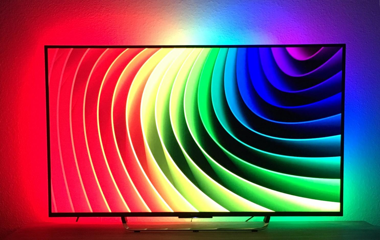 DIY 4k Ambilight Test regenbogen