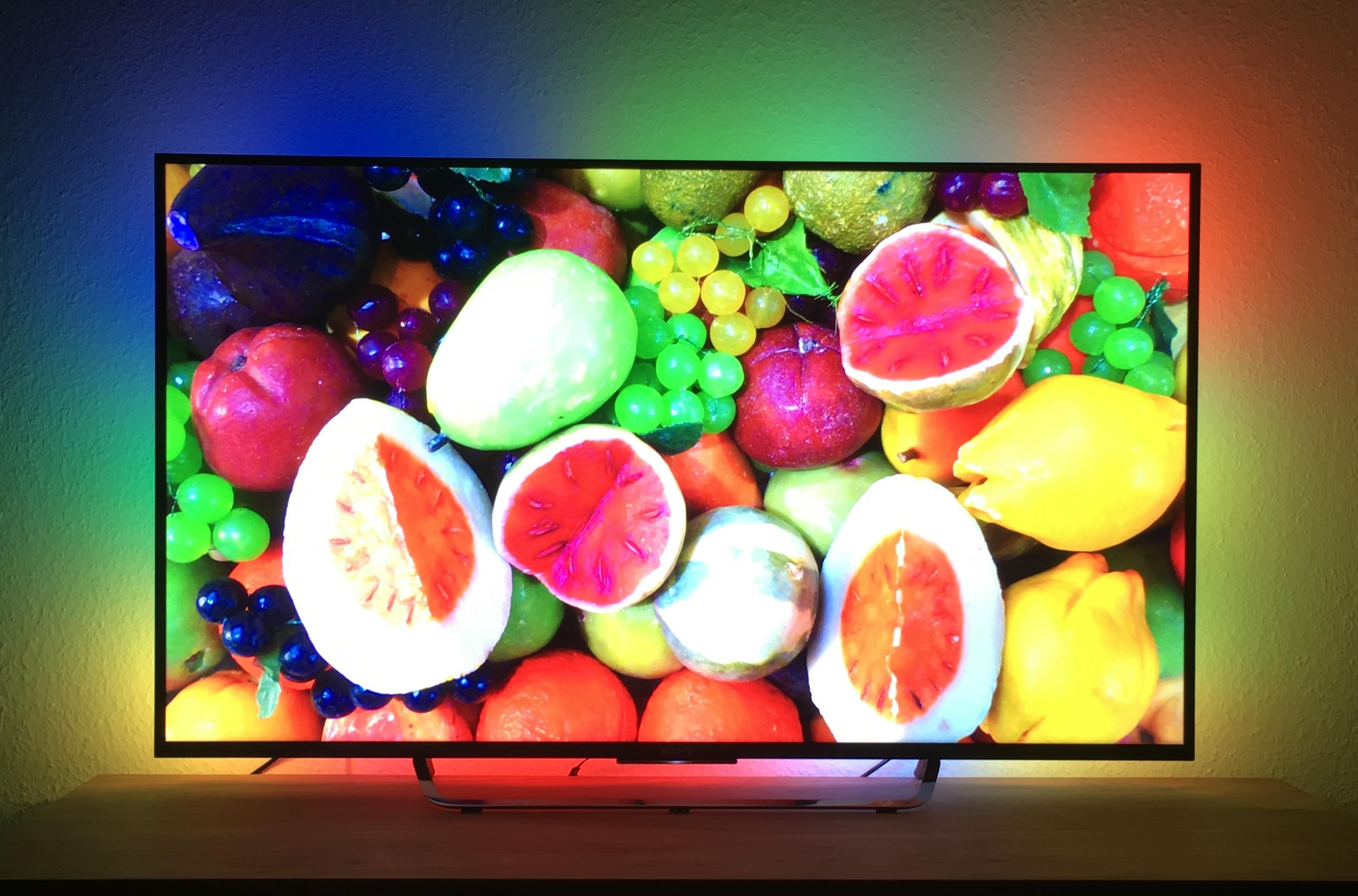 DIY 4k Ambilight Test Früchte