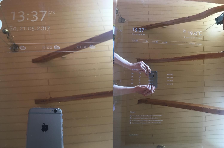 smart mirror diy spiegelfolie 1