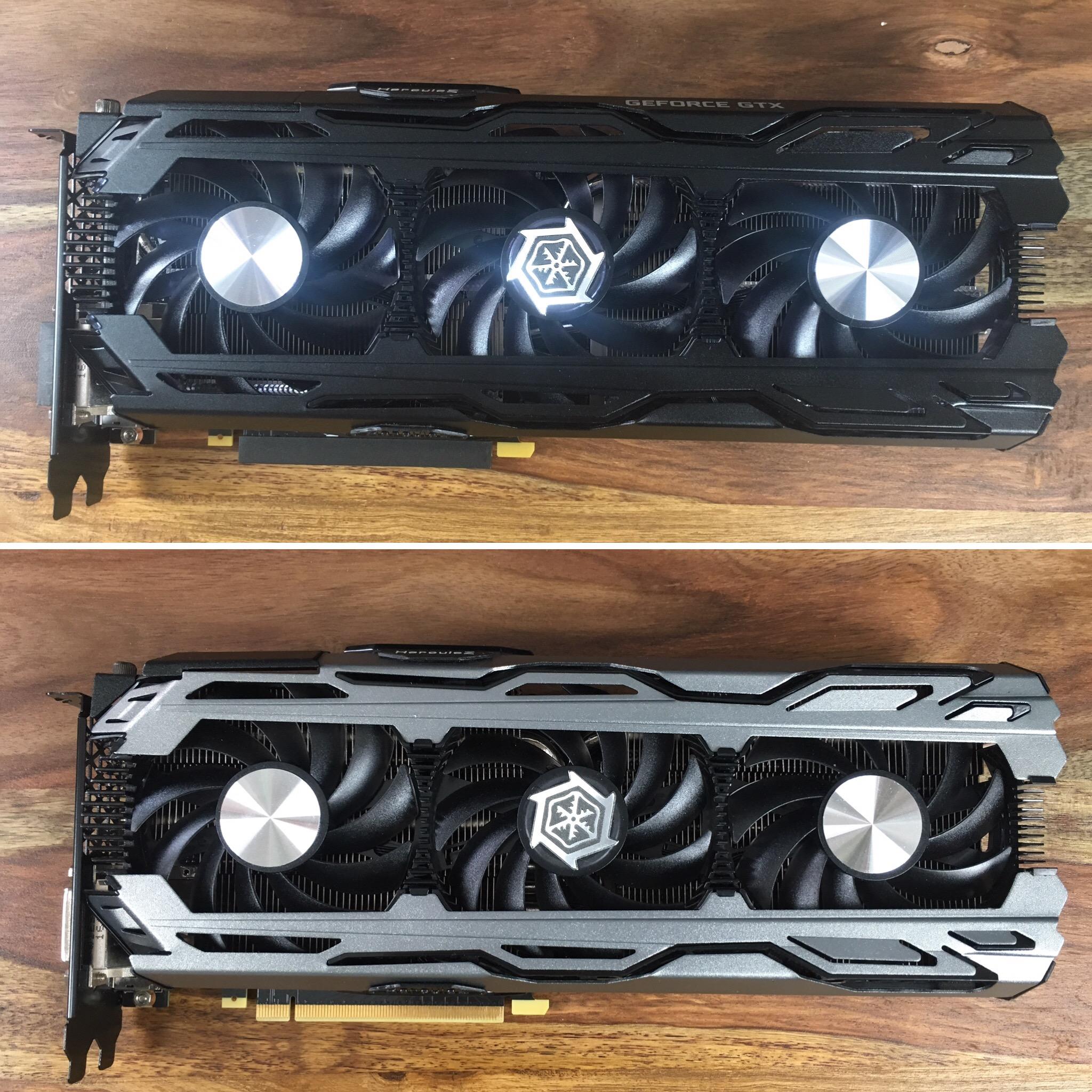 Vergleich INNO3D GTX 1080 normal und TI