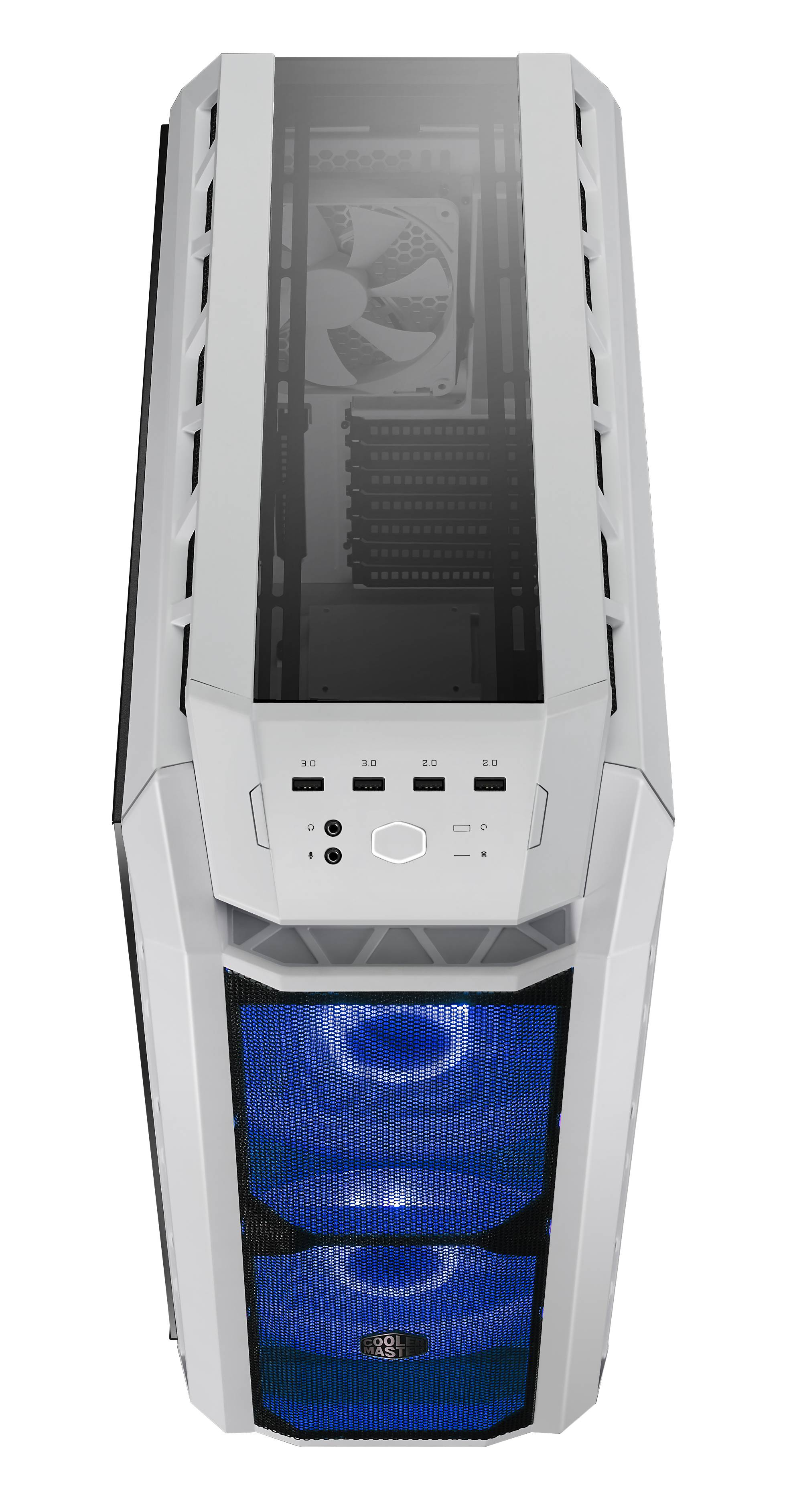H500P MESH WHITE_front and top-light_Blue